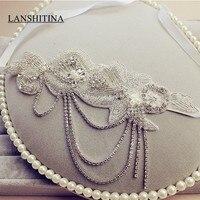 Beautiful Beading Wedding Bridal Headwear Crystal Accessory XH156 Hair Band Pearls Beaded Bride Fascinator Headband