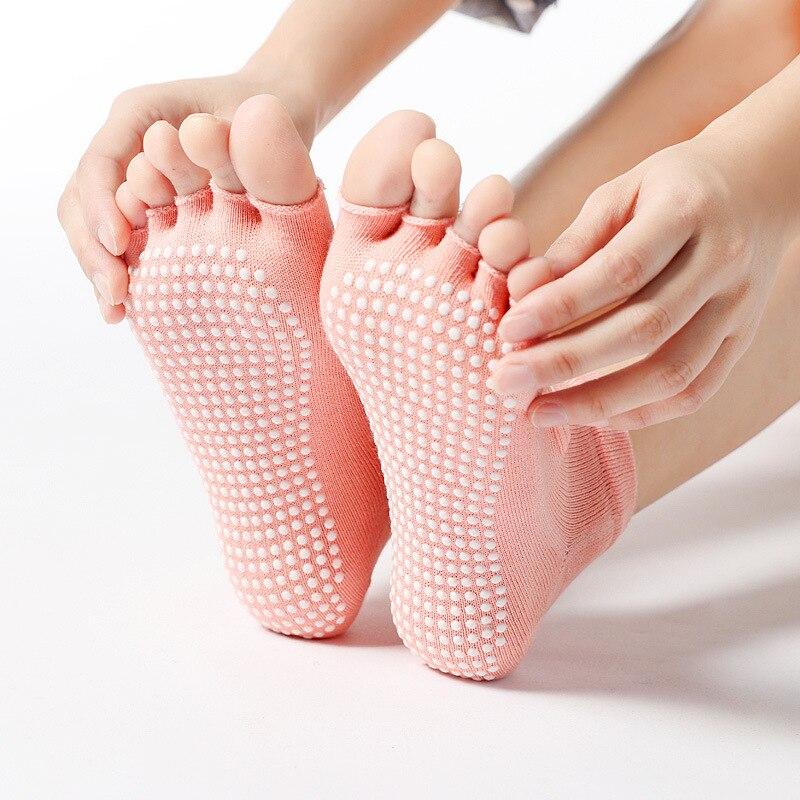 Woman Yoga Grip Socks Non Slip Fingerless Socks Open Back Gym Toeless Socks Yoga Shoes