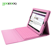 Case For Ipad 4 3 2 PU Leather Wireless Bluetooth Keyboard for Apple IPad Mini 1 2 3 Stand Ultra Slim Foldable Cover Holder A21