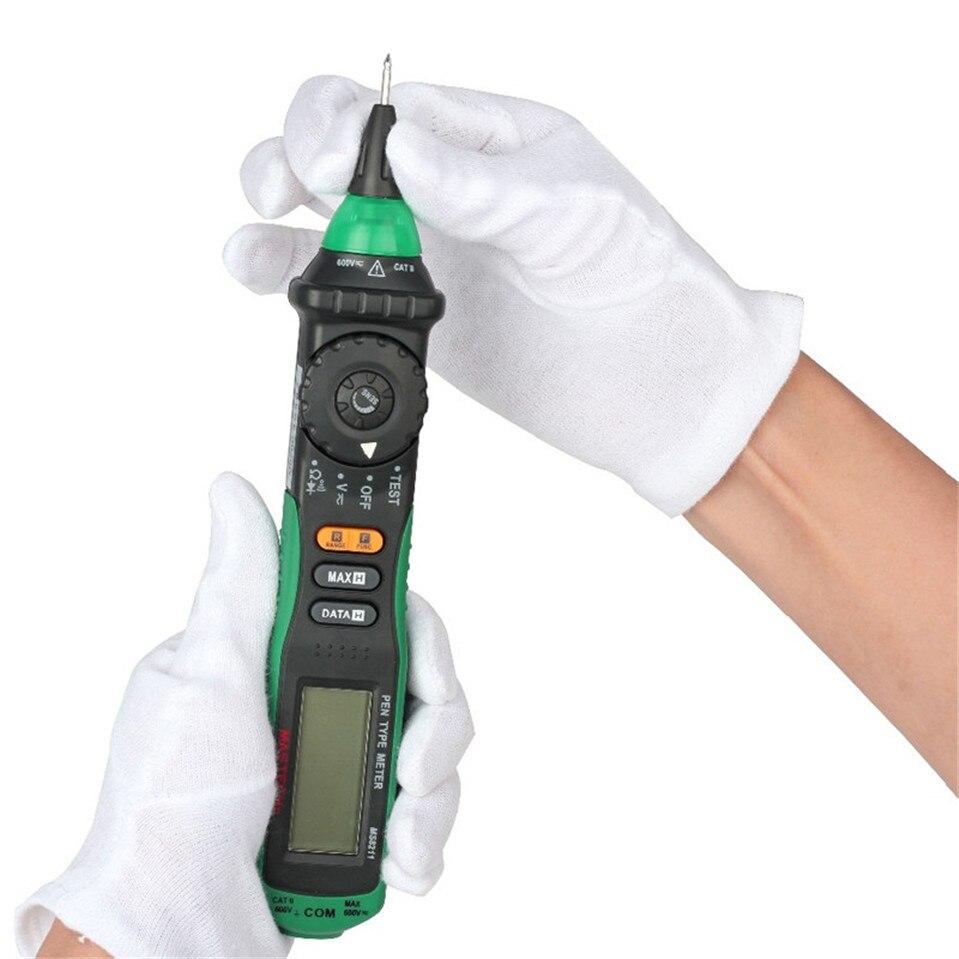 MASTECH MS8211 Pen type Digital Multimeter with NCV Tester Non contact DC AC 600V Voltmeter Ohm Meter Multi Tester Multimetro  цены