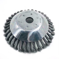 Polishing Rotary Steel Wire Garden Cutter Wheel Grout Trimmer Replacement Bowl Type Twisted Practical Weed Brush Grass