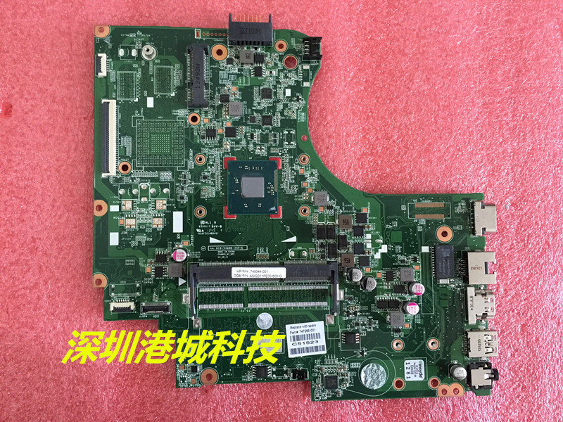 ФОТО 752884-501 Free Shipping 752884-001 FOR HP 14-D 240 G2 246 G2 Laptop Motherboard P/N 010194Q00-35K-G N2820 Mainboard