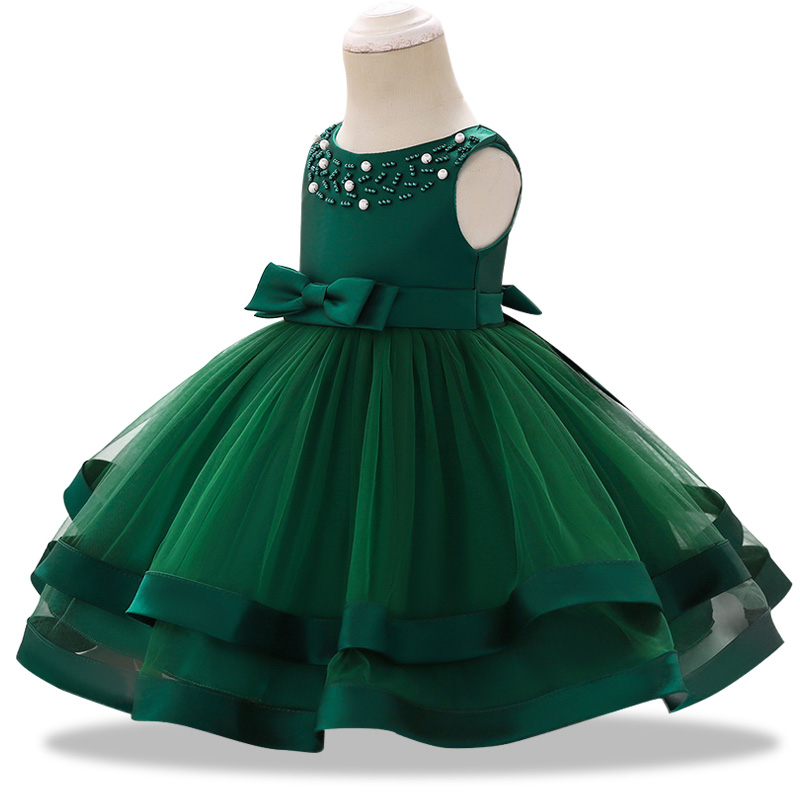 a3b398f75 Vestidos de fiesta con tutú de encaje para niños y niñas para 1 año de  cumpleaños