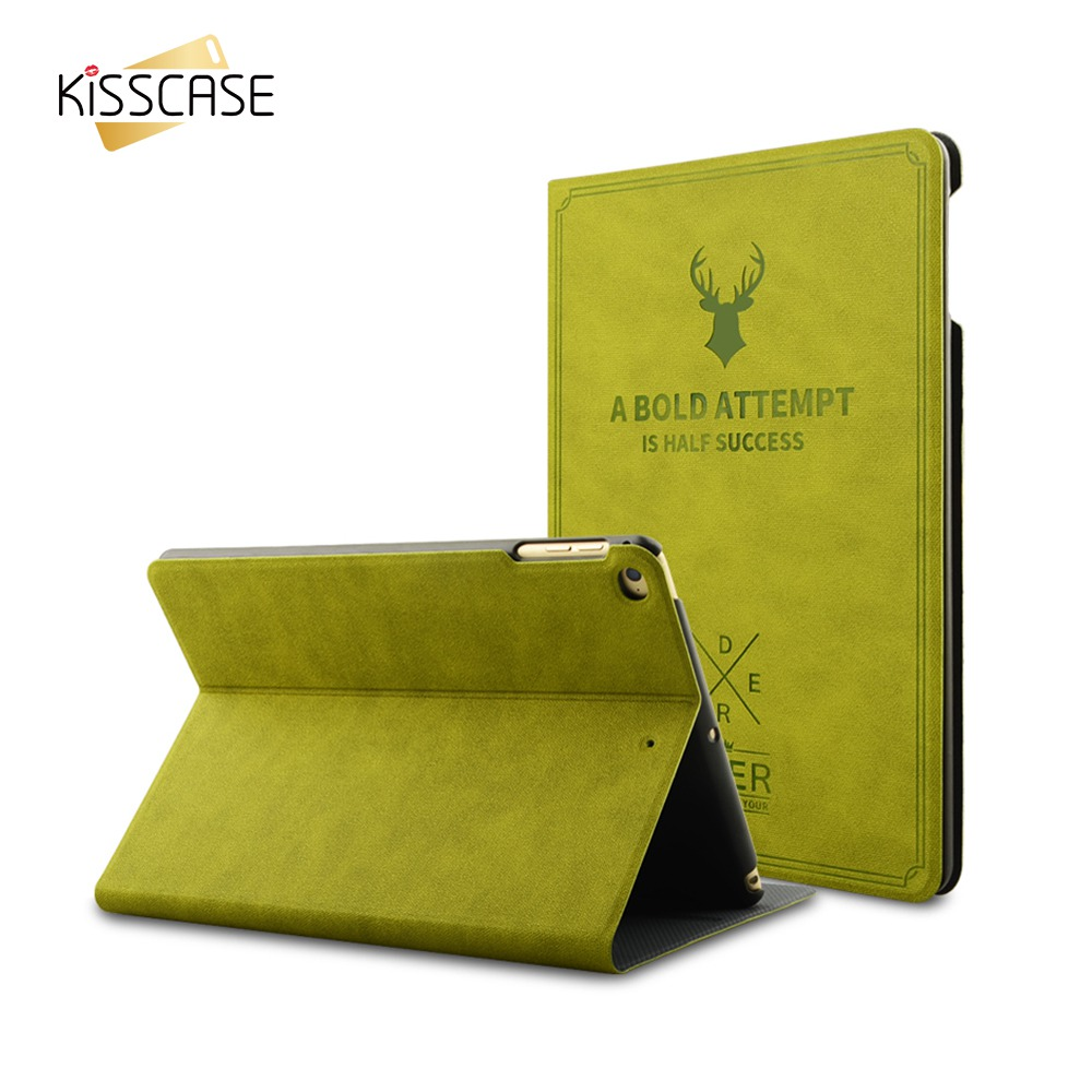KISSCASE Luxury PU Leather Case For iPad Mini 1 2 3 4 Cover Deer Pattern Slim Flip Stand Protective Cover For iPad Mini 1 2 3 4 for apple ipad air 2 pu leather case luxury silk pattern stand smart cover