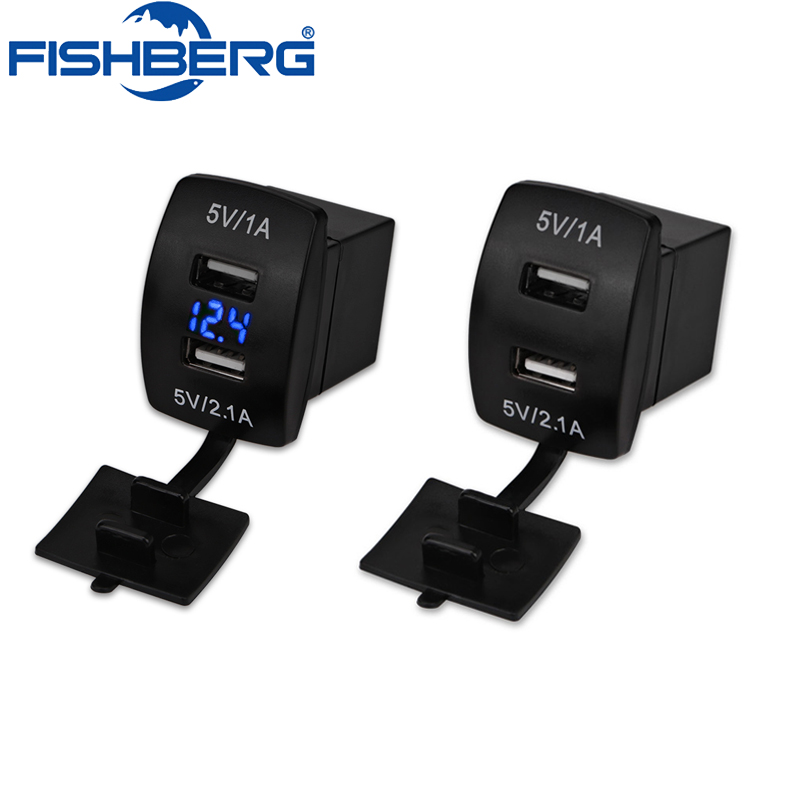 3.1A Universal Car <font><b>USB</b></font> <font><b>Charger</b></font> Plug Voltmeter <font><b>12V</b></font> 24V Dual <font><b>USB</b></font> Port Socket Power Adapter For Car <font><b>Motor</b></font> Electric Car ATV Boat image