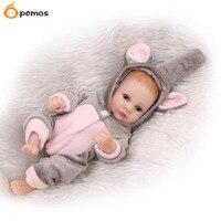 [Pcmos] 11 بوصة الفيلة القصير طفلة reborn الدمى 27 سنتيمتر كامل الجسم الفينيل اليدوية الطفل لعب عيد الميلاد هدية 16070108