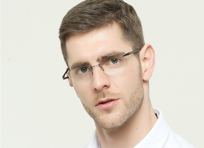 Eyesilove ultra-light mens rimless reading glasses TR90 reading eyeglasses high-end +100 +150 +200 +250 +300 +350 +400