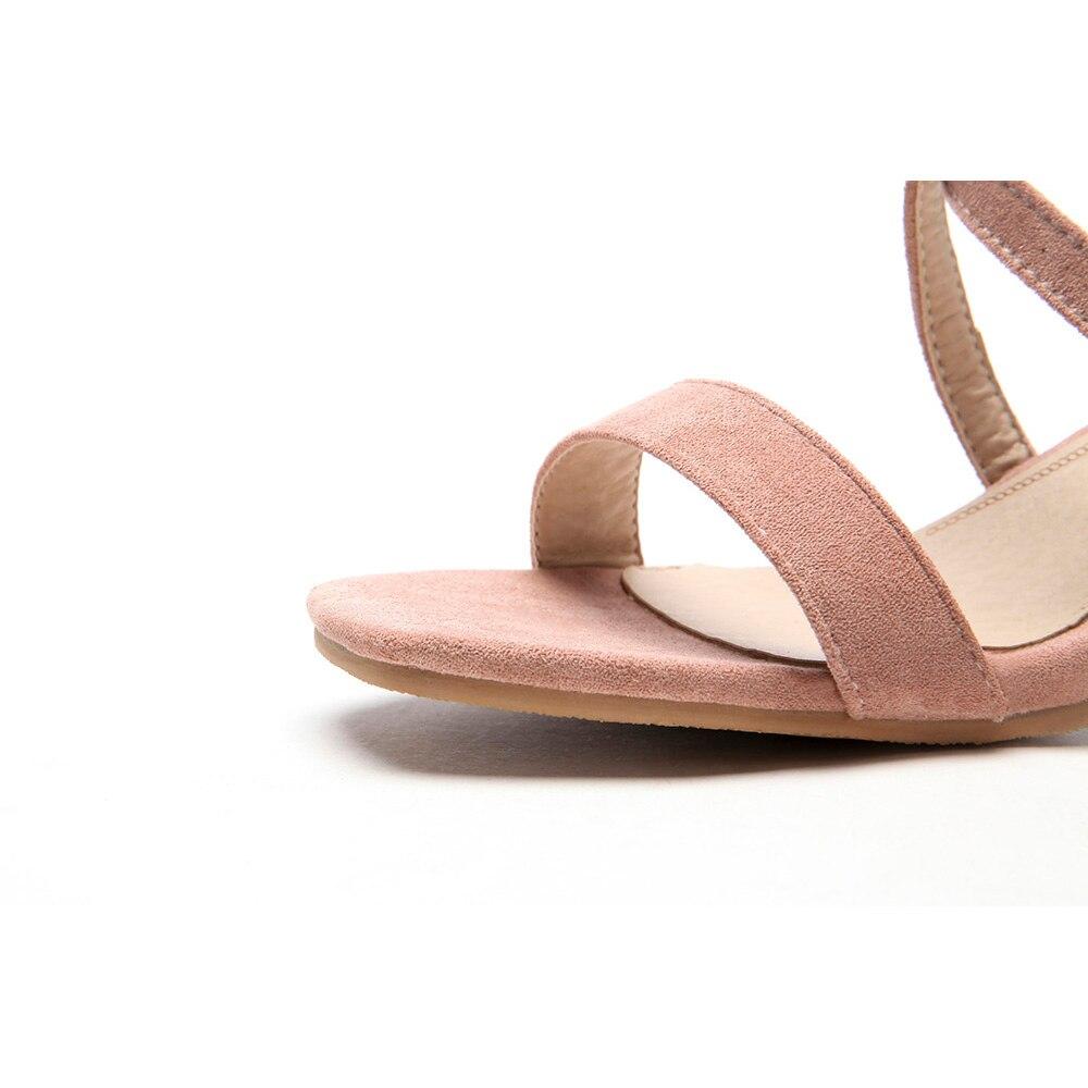 Mujeres Rosa Zapatos Sandalias Beige Vestido Ebs85 pink Grande 10 Más 2018 Señora Chunky 31 Verano Nuevo Tamaño Beige Desnudo Talones 43 Moda Sexy black 46 qwnOwXIW0