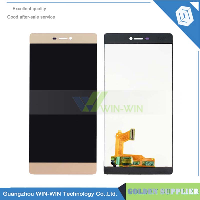 Best Quality For Huawei Ascend P8 white LCD Display + Touch Screen Digitizer Assembly Replacement Free Shipping replacement original touch screen lcd display assembly framefor huawei ascend p7 freeshipping