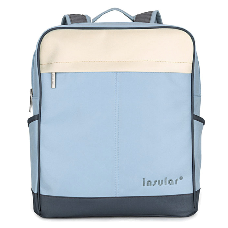 insular New Style Canvas Waterproof Baby Diaper Backpack Fashion Mommy Bag Backpack Blue