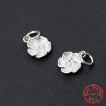 Uqbing bijoux Новая мода свежий цветок Серебряный цвет подвески