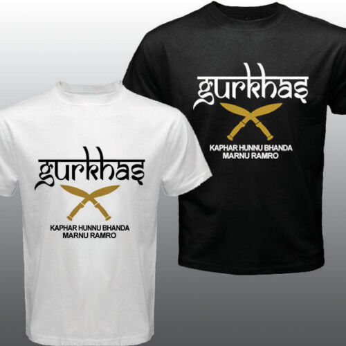 2019 Fashion New Gurkha Gorkhas Nepalese British Royal Special Forces Kukri Knives T-Shirt Unisex Tee image