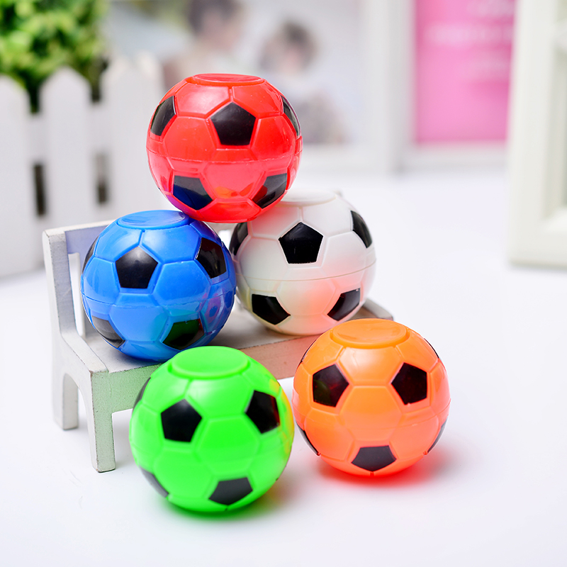 10PCS/Creative Mini Football Basketball Fidget Spinner Toy Hand Tip Gyro Anti Stress Fun Toys Gifts For Adults Chilldren