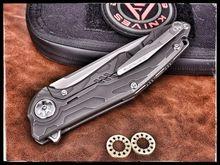 Изготовленный На Заказ ледяной Тактический титановый S90V нож, походный складной нож, бесплатная доставка