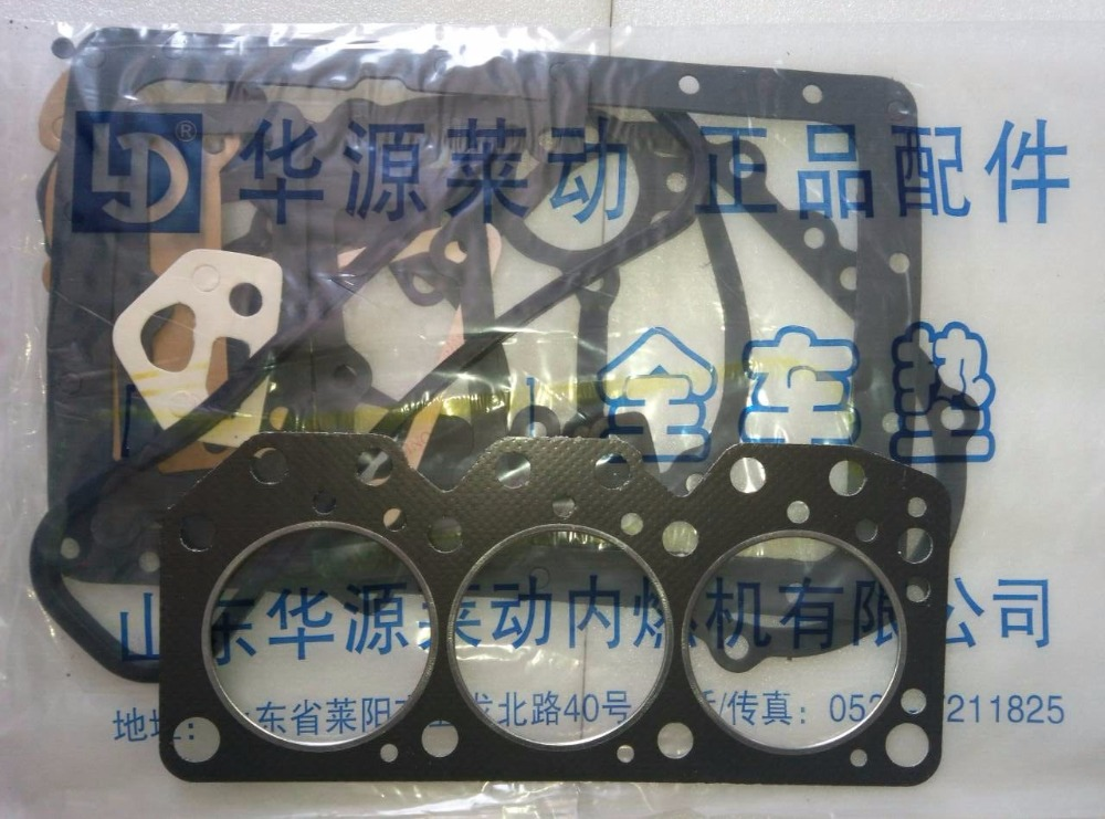 Laidong engine LL380BT for tractor like Foton FT224, the set of engine gaskets including head gasket laidong km4l23bt for tractor like luzhong series set of piston groups with gaskets kit including the cylinder head gasket