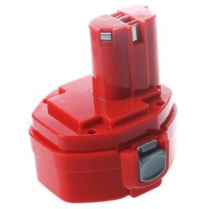 Image 4 - 14.4V NiMH Bateria para Makita 3.0Ah 6281D 6333D 6336D 6337D 6339D Vermelho