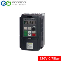 230V 0.75KW 1HP Mini VFD Variable Frequency Drive Inverter for Motor Speed Control