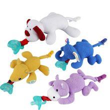 Пустышки силиконовые Мультяшные животные плюшевые Соска-пустышка игрушки малыш мальчик зажимы девочка игрушка прищепка для соски 19