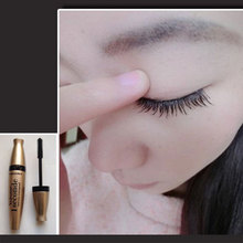 Women's Black Eye Mascara Long Eyelash Silicone Brush Curving Lengthening Mascara Waterproof Makeup New FM88