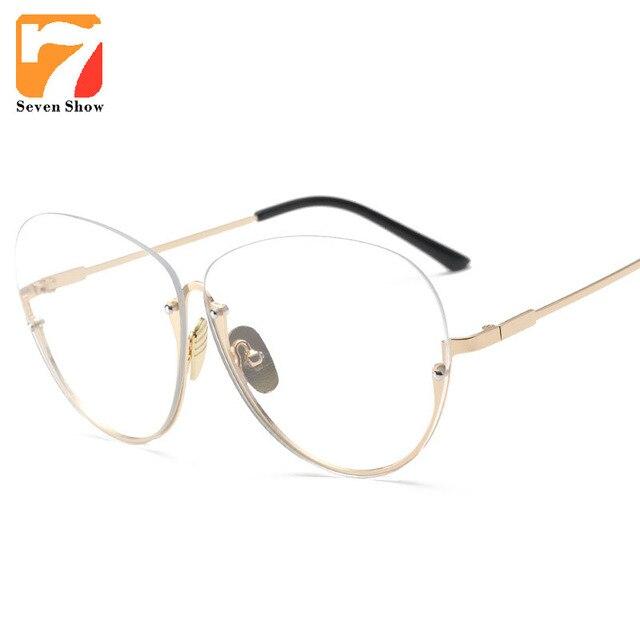 ad0fed9722012 Quadro de moda Óculos Mulheres Computador Óptico Lente Clara Óculos Sem Aro  Quadros Femininos óculos Masculinos