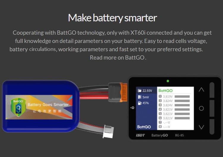 ISDT BattGo BG-8S Smart ბატარეის - დისტანციური მართვის სათამაშოები - ფოტო 4