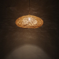 Bird's Nest Chandelier Rattan ball creative woven lamp rural Living room bedroom dining room Southeast Asian bamboo lamps