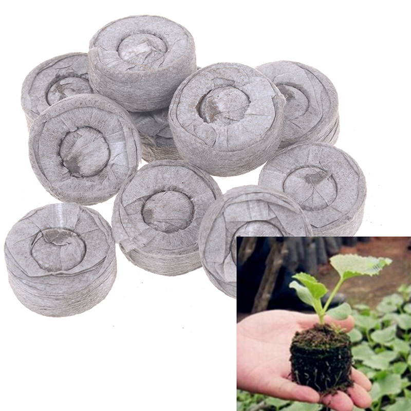 30mm Jiffy Peat Pellets Seed Starting Plugs Seeds Starter Pallet Seedling Soil Block Professional Easy To Use 10pcs