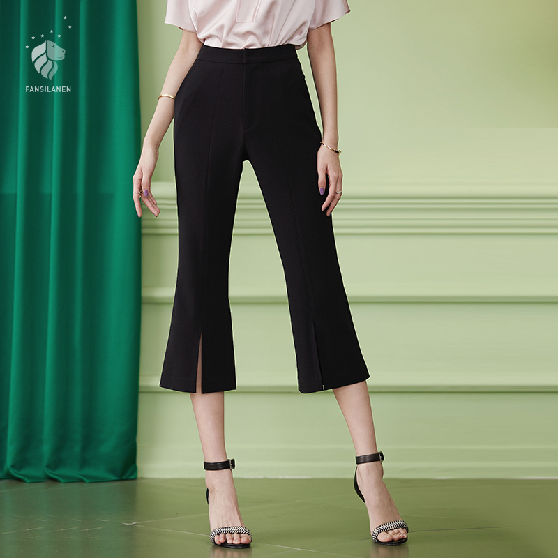 FANSILANEN Store FANSILANEN 2017 New Arrival Fashion Summer/Spring Women Pants Tassel Wide Leg Sweatpants Flare Loose Skinny Elastic Waist 71198