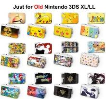 1 pcs bonito pokemon xy xy pikachu zelda Tóquio Ghou Camiseta de super mario Jogo de Console de Proteção Caso Capa Dura Para O velho 3DS XL LL