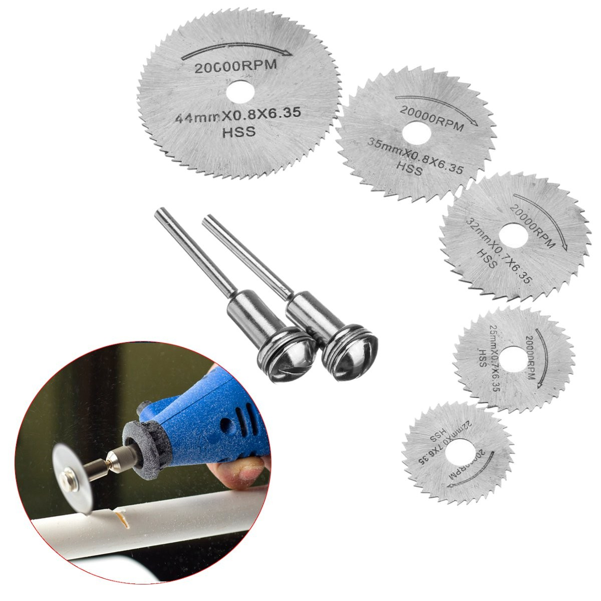 HSS Circular Wood Cutting Saw Blade Discs With 1 Mandrel For Dremel Rotary Tool For Dremel Metal Cutter Blades