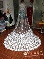 Em Estoque Super Moda Véu Do Casamento Catedral 3 Três Metros de Acessórios Do Casamento de Noiva Mariage Voile Frete Grátis