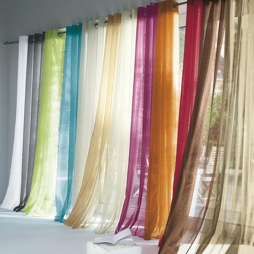 Plain Voile Grommet Eyelet Top Curtain Factory Direct From No1 On Line