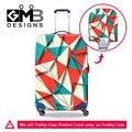 Personalizado Colorido Equipaje Cubre diseños Geométricos Maleta Impermeable Cubre Protectores De Equipaje para Viajar Accesorios