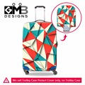 Personalized Colorful Luggage Covers Geometric designs Waterproof Suitcase Covers Luggage Protectors for Traveling Accessories