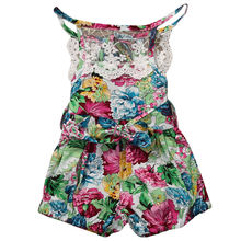 Floral Newborn Infant Baby Girl Clothing Tops Romper Sleeveless Cute Jumpsuit Sleeveless Flower Outfit Clothes Baby Girls