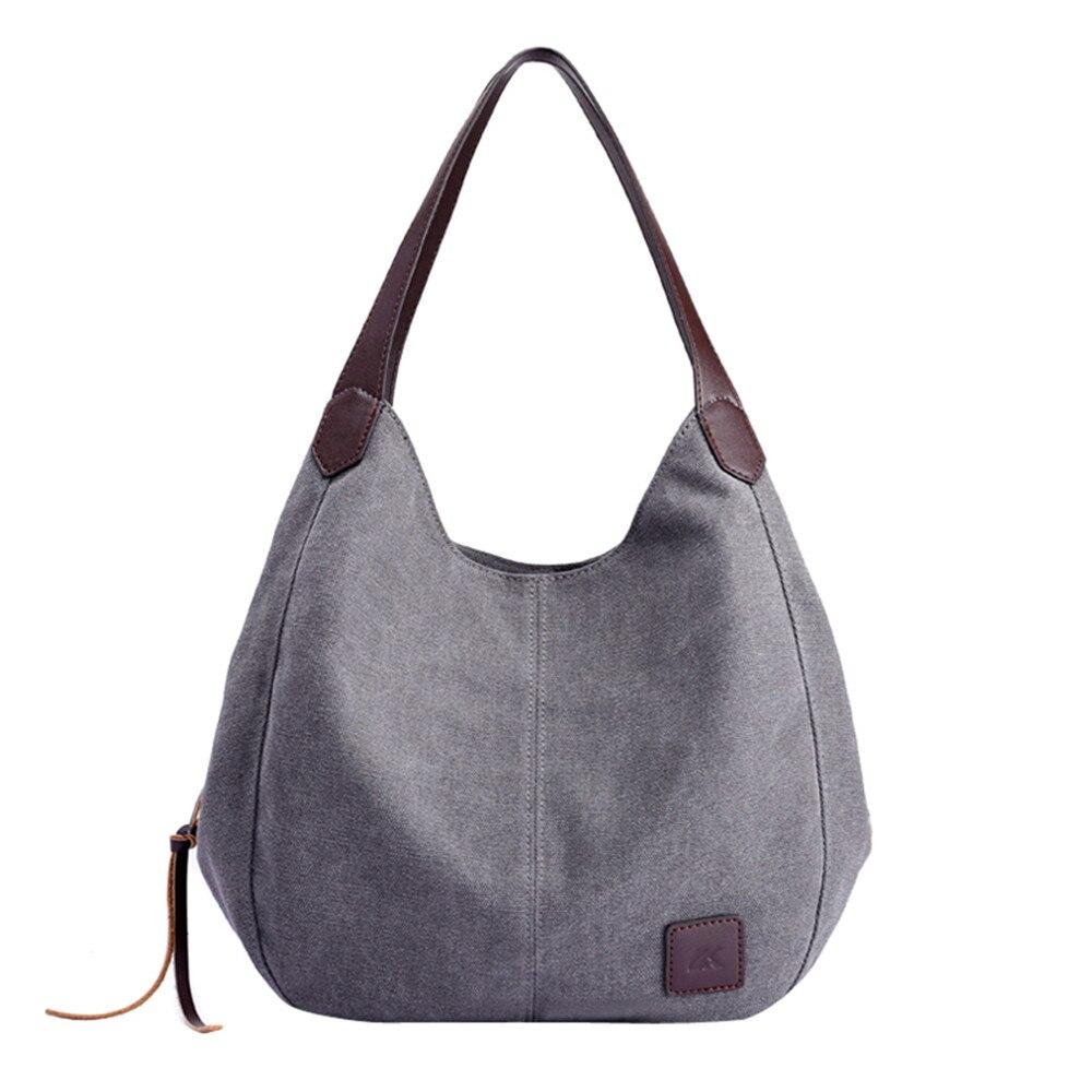 b35d3bce3 Cheap Las mujeres bolsos de lona de mujer de alta calidad vagabundos de un  solo hombro