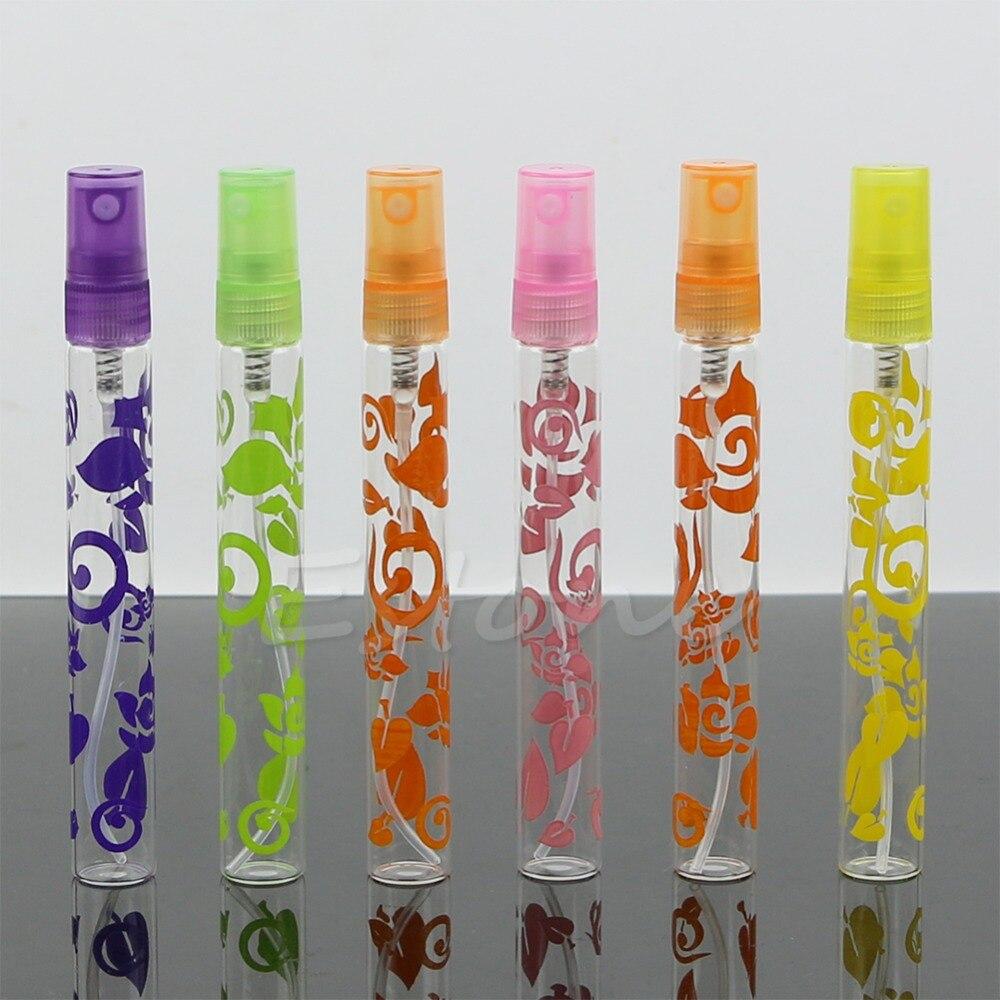 6Pcs 10ml Rose Crystal Cut Glass Perfumes