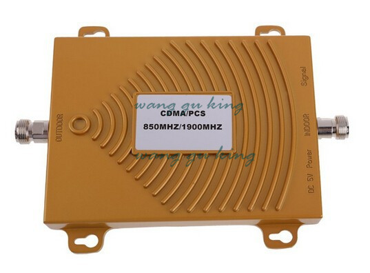 Hot Sale ! CDMA 850Mhz + PCS 1900MHz Dual Band Mobile Phone Signal Booster , PCS CDMA Signal Repeater , Signal Amplifier + Power