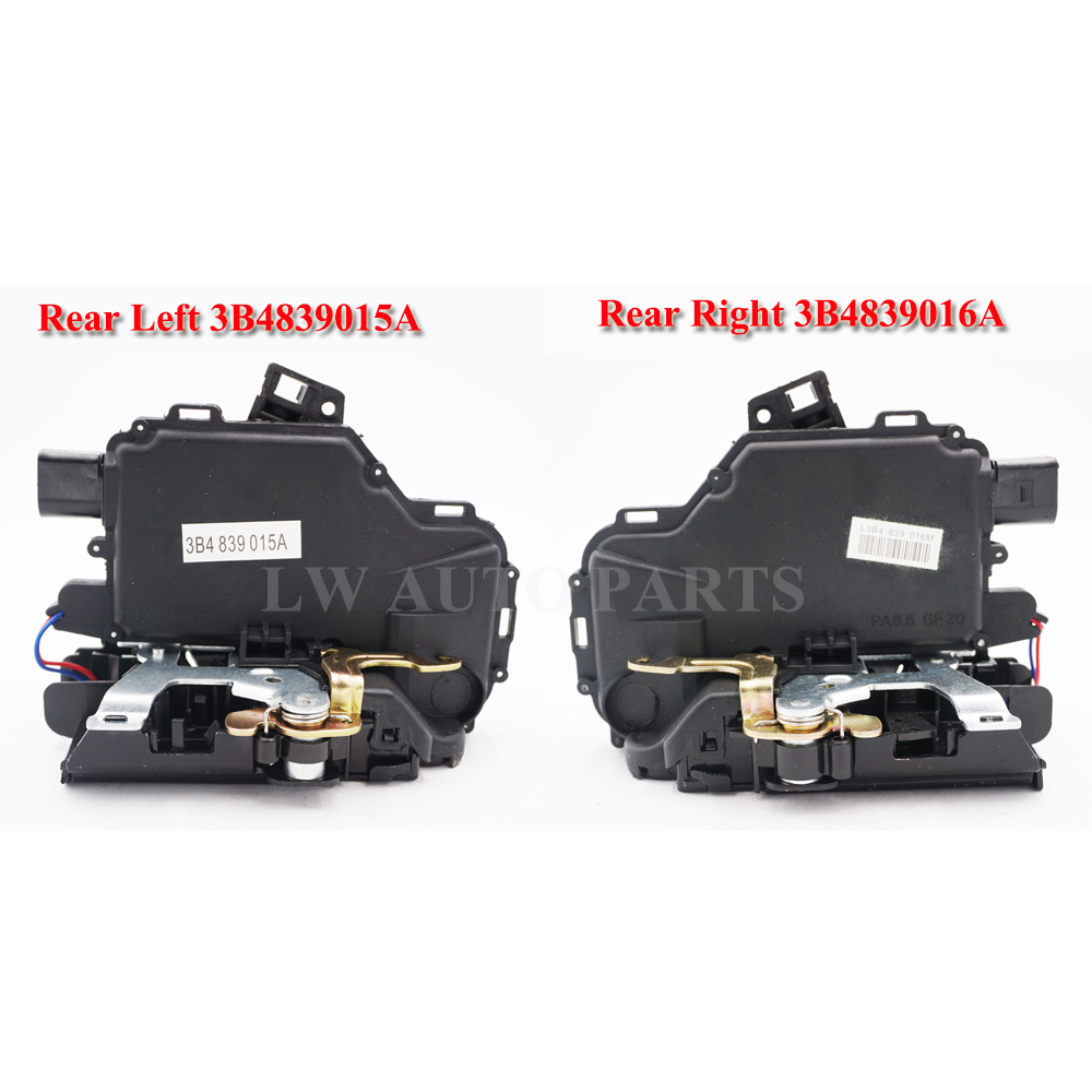 free shipping 2pc Rear Left right Door Lock Mechanism For VW GOLF BORA LUPO PASSAT B5