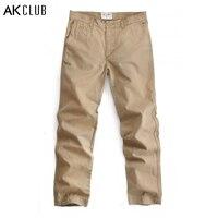 AK CLUB Marque Pantalon Baggy Pocket Casual Pantalon Vintage Pantalon Automne pantalons Pour Hommes 100% Coton Chino Slim Fit Hommes Pantalon 1512018
