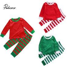 3 вида стилей одинаковые рождественские пижамы для всей семьи, пижамный комплект для детей и взрослых, одежда для сна в полоску, одежда для сна, костюм для фотосъемки