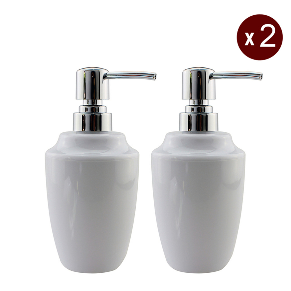 2pcs lot acrylic soap lotion liquid dispenser pump bottle for Bathroom bottles