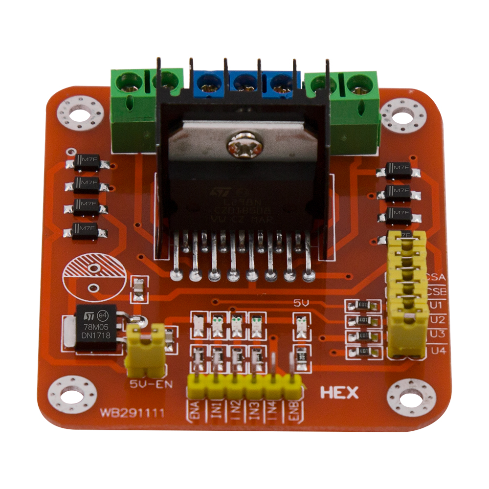 L298n Dual H Bridge Motor Driver Controller Board Module In The Definition Of Passive Components Are Electronic That If Please Use Means Forced Cooling Power Is Limited By 78m05 More Than 15v External 5v Supply