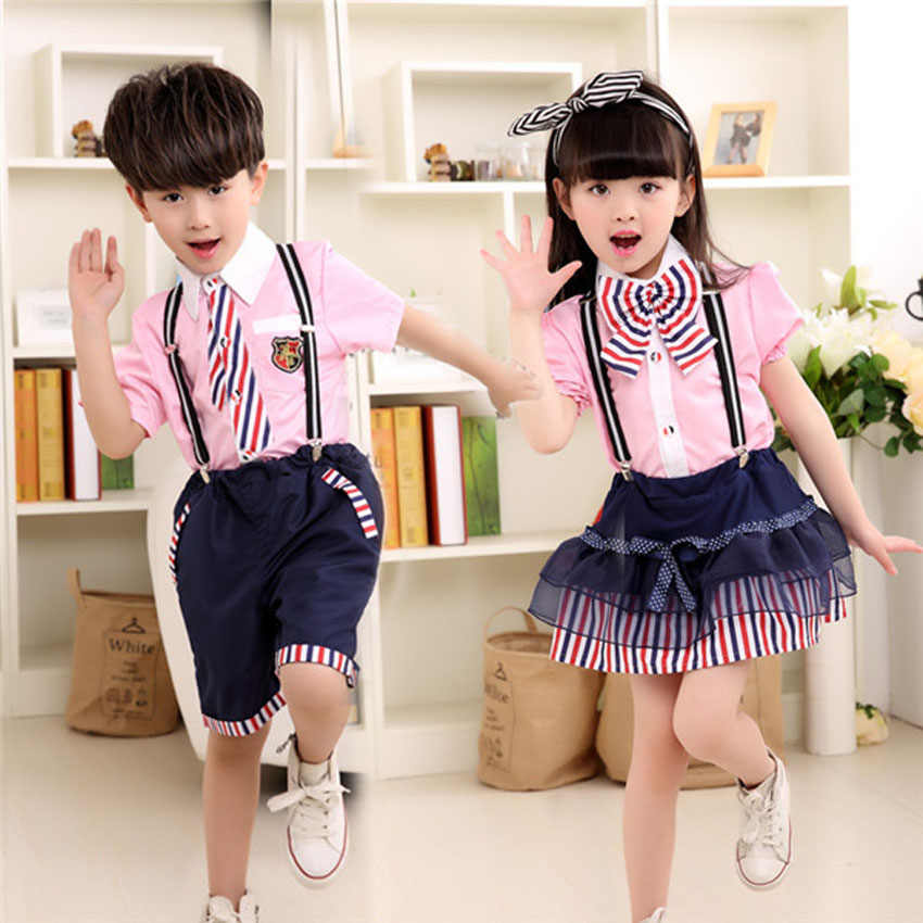 ee58ed039 ... Children's Day Party Kids Student School Uniform 110-160cm Choir  Costumes Bow Tie Teenager Boys