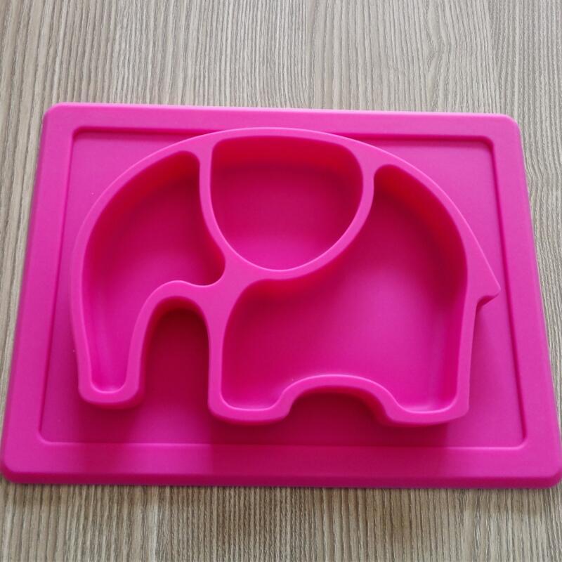 BPA: n vapaa liukumaton vauvan silikoni-elefantti-alusta lapsille, - Lapsi ruokinta - Valokuva 3