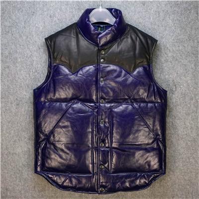 963bcf9efbd8 Super qualité Pour cool Harley rider Hommes vache veste en cuir véritable  peau de vache en cuir moto rider gilet HA-102