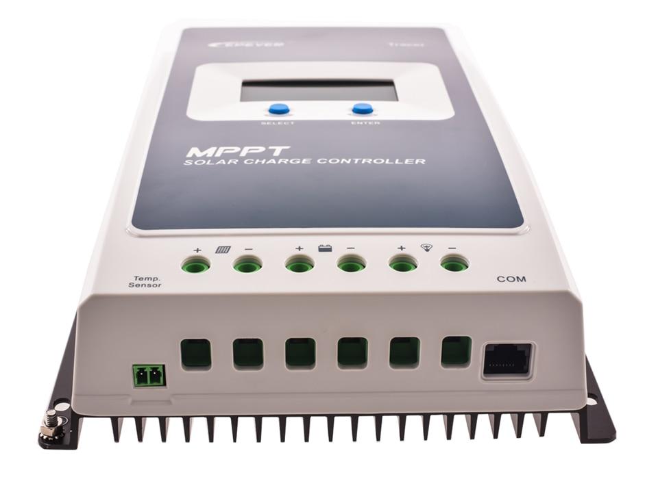 EPever 2210AN MPPT 20A контроллер солнечного заряда черный-легкий ЖК-солнечный регулятор для 12 В 24 В свинцово-кислотная ЛИТИЕВАЯ-ионная батарея+ MT50
