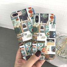 Japanese retro literary cute kitten Phone hard cover case For iphone X XSmax XR 6 6S plus 7 7plus 8 8plus Kawaii Coque Fundas