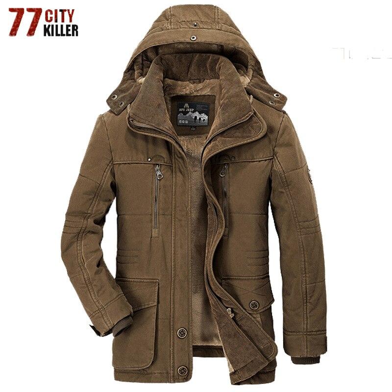 Новинка 2018 года, брендовые толстые зимние парки для мужчин, теплая куртка с хлопковой подкладкой, мужские флисовые парки с мехом, hombre invierno, б...
