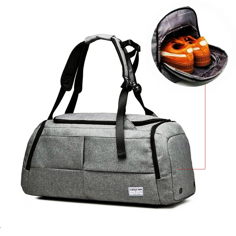 Men Travel Bag For Gym Bag Sport Bag For Women Fitness Oxford Waterproof Gym Sports Bag Large Capacity Training Duffle Backpack